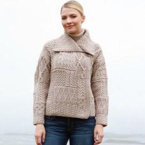 🌿 Carraigdonn 100% Merino Wool Cardigan Ireland